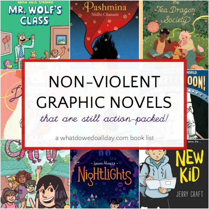 List of non-violent graphic novels for kids