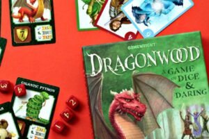 Dragonwood game cards and dice
