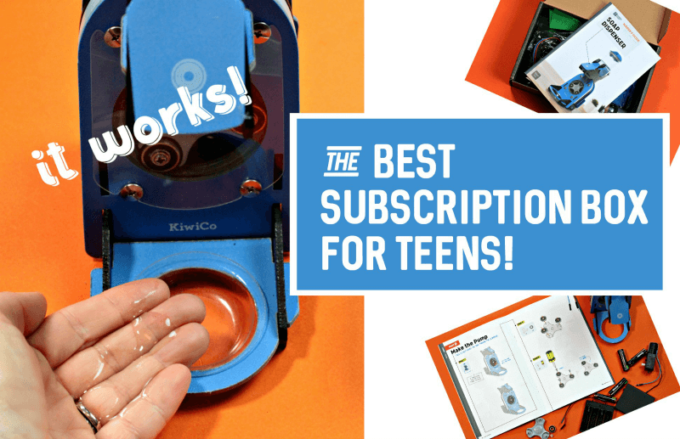 Science based subscription box for teens