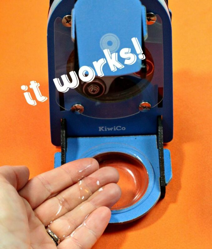 Mechanical soap dispenser science kit subscription box for teens
