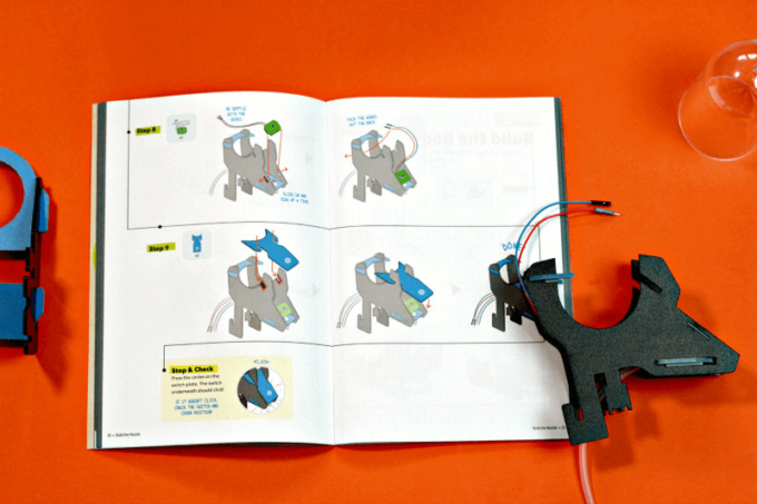 Instructions and parts to make a soap dispenser kit