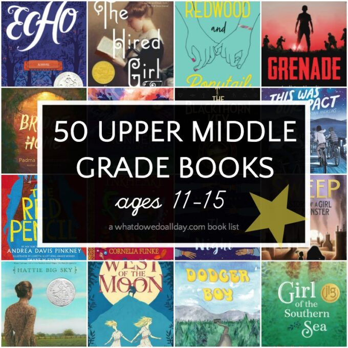 List of upper middle grade books for 11-15 year olds
