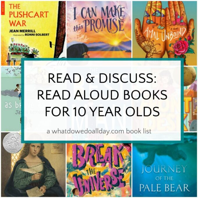 List of books to read aloud to 10 year olds