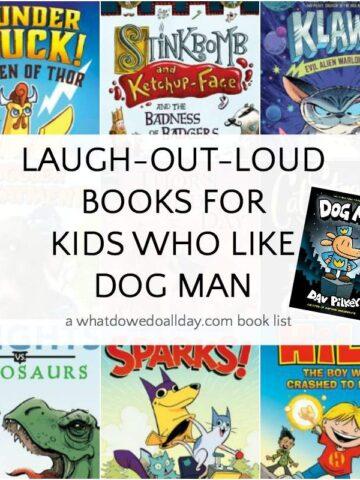 List of books for kids who like Dog Man by Dav Pilkey