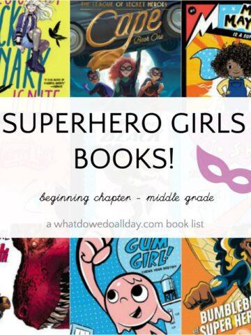 List of girl superhero books for kids
