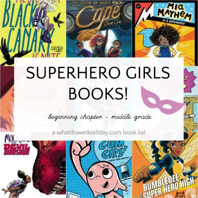List of superhero girl books for kids