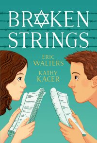Broken Strings book cover with Jewish characters