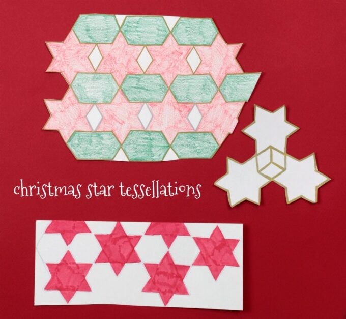 Christmas star tessellations