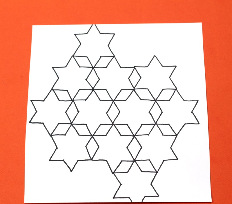 Star and diamond tessellation