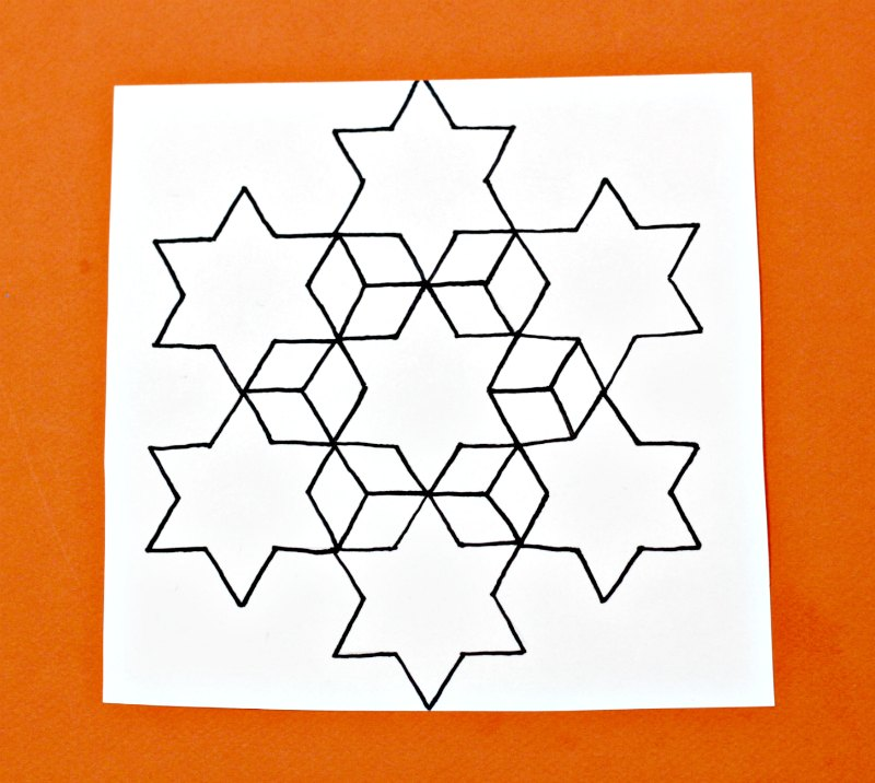 Star hexagon and diamond tessellation