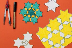 Star tessellations art project