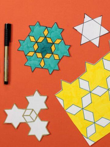 Star tessellations art project
