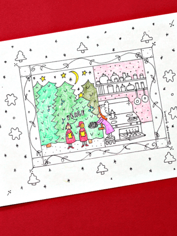 Christmas carolers coloring page