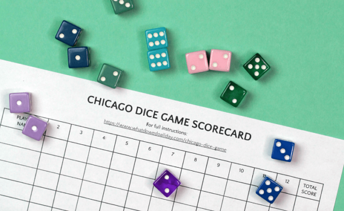 Supplies for chicago dice game