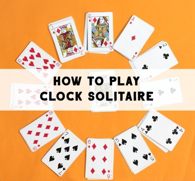 How to play clock solitaire card game