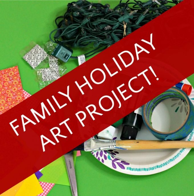 Make your own Christmas tree for a family art project