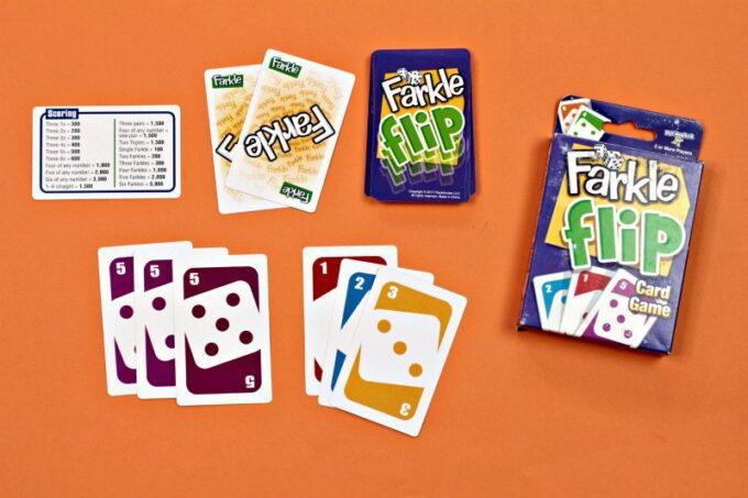 Display of Farkle card game