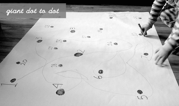 Dot to dot with big paper