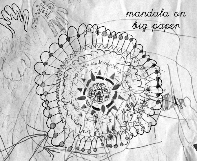 Mandala on big paper