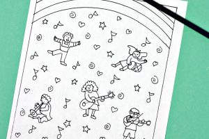 Months of the Year Coloring Pages - Classroom Doodles | 200x300
