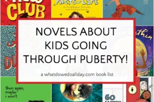 A book list of middle grade puberty fiction