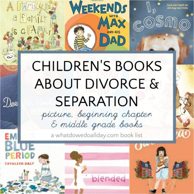 List of children's books about divorce and separation