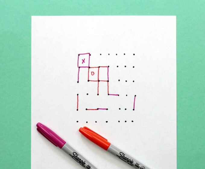Dot and box pen and paper game