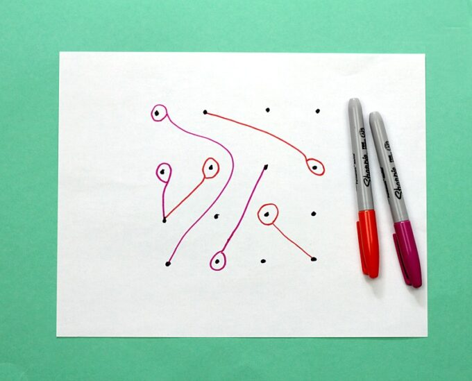 Lasso pen and paper game
