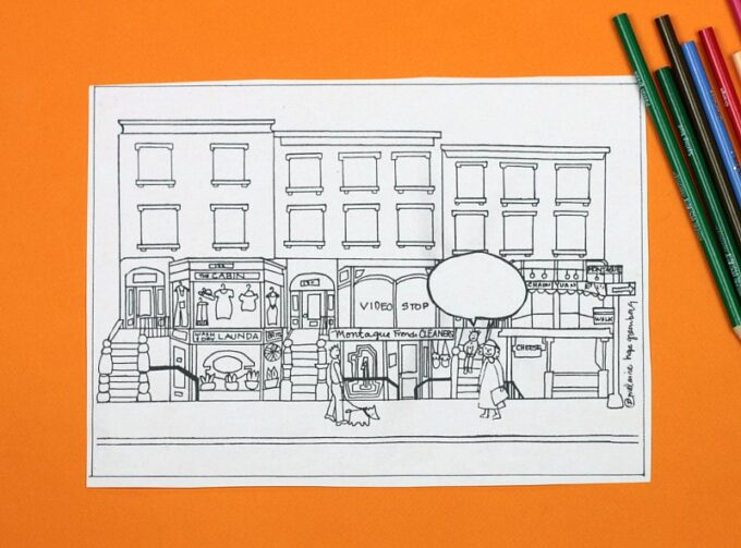 Friends and neighbors coloring page
