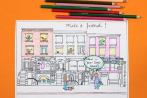 Make a friend day coloring page