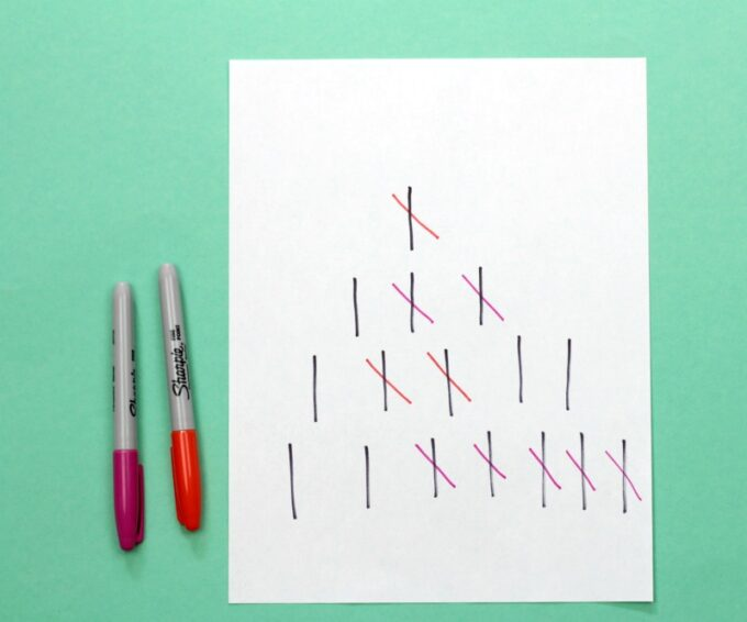 Play Nim with pencil and paper