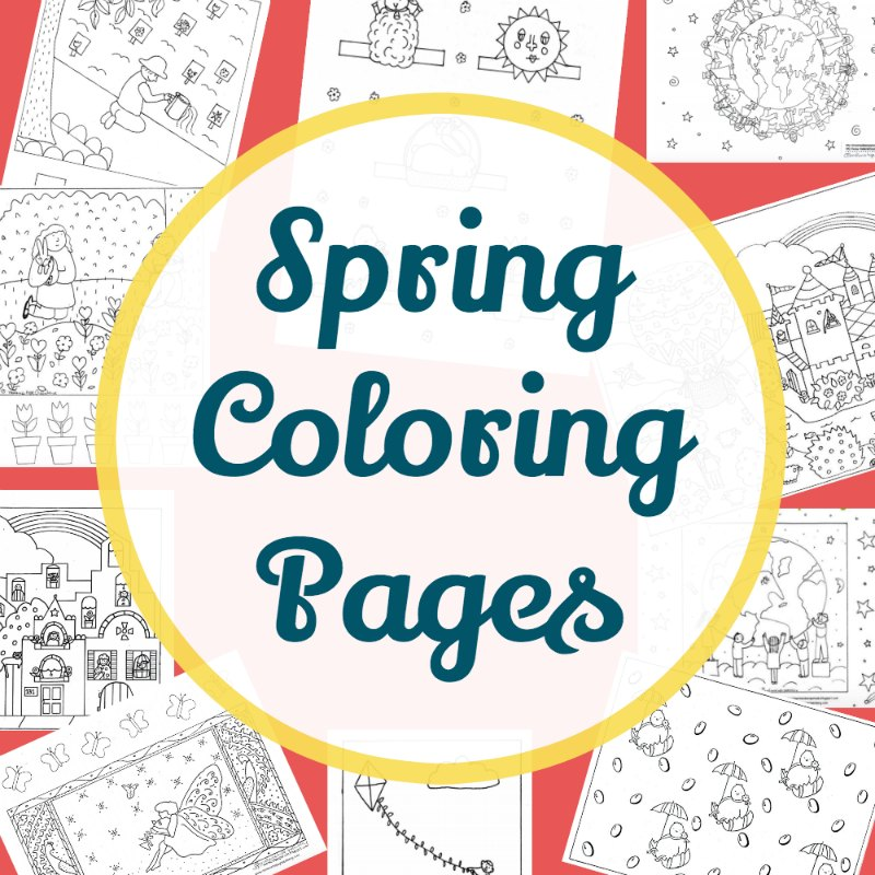 The Best Spring Coloring Pages For Kids
