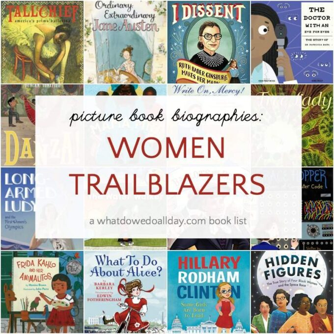 Book list of women history biographies