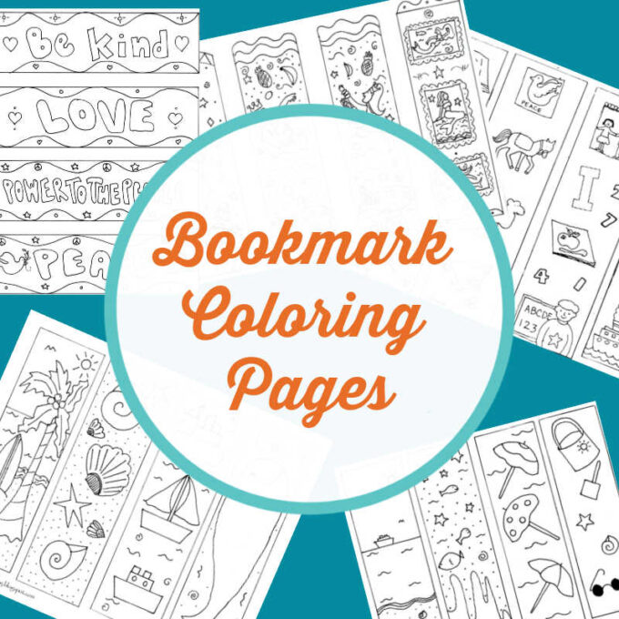 Bookmark coloring pages of all different themes