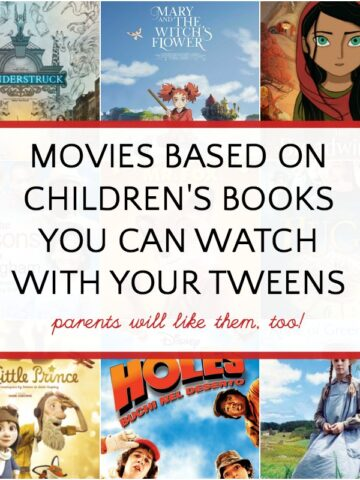 Movies based on children's books to watch with tweens