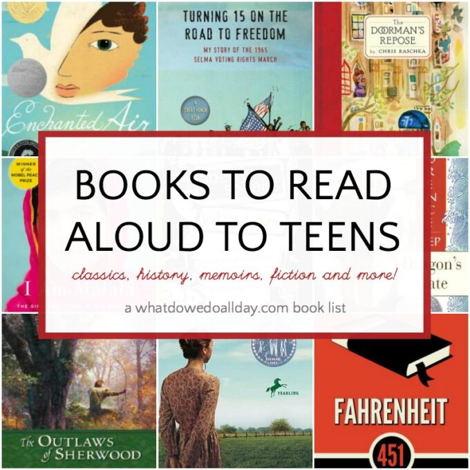 List of books to read aloud to teens