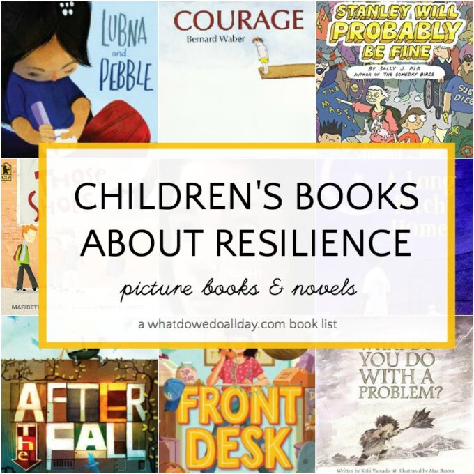 Book covers of children's books about resilience