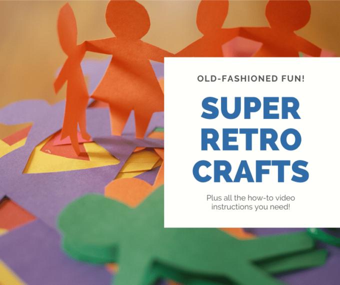 Retro crafts for kids