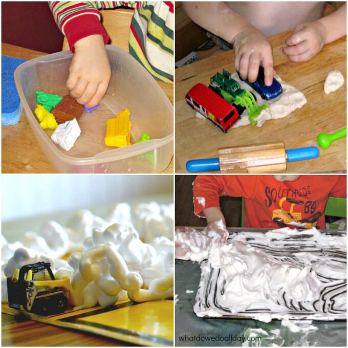 Sensory play with toy cars