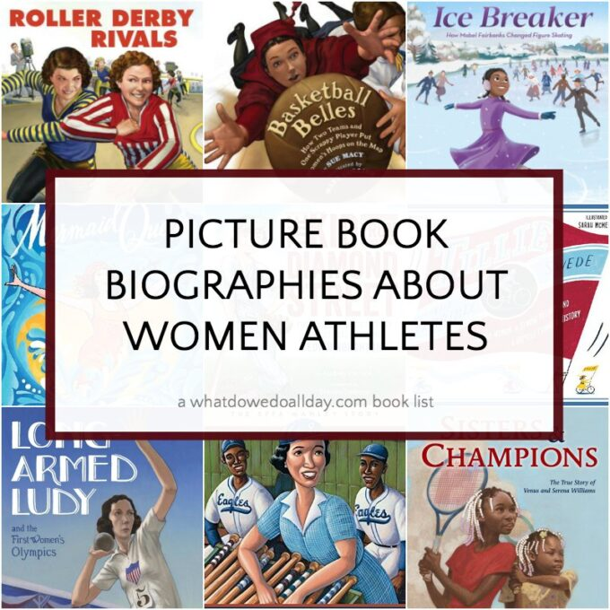 Book list of children's biographies about women athletes