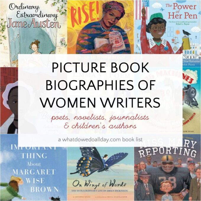 Children's biographies of women writers