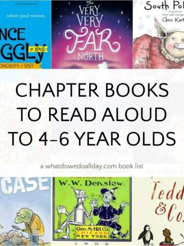 List of chapter books to read aloud to 4, 5 and 6 year olds
