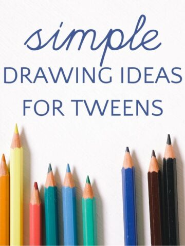 Colored pencils for drawing ideas