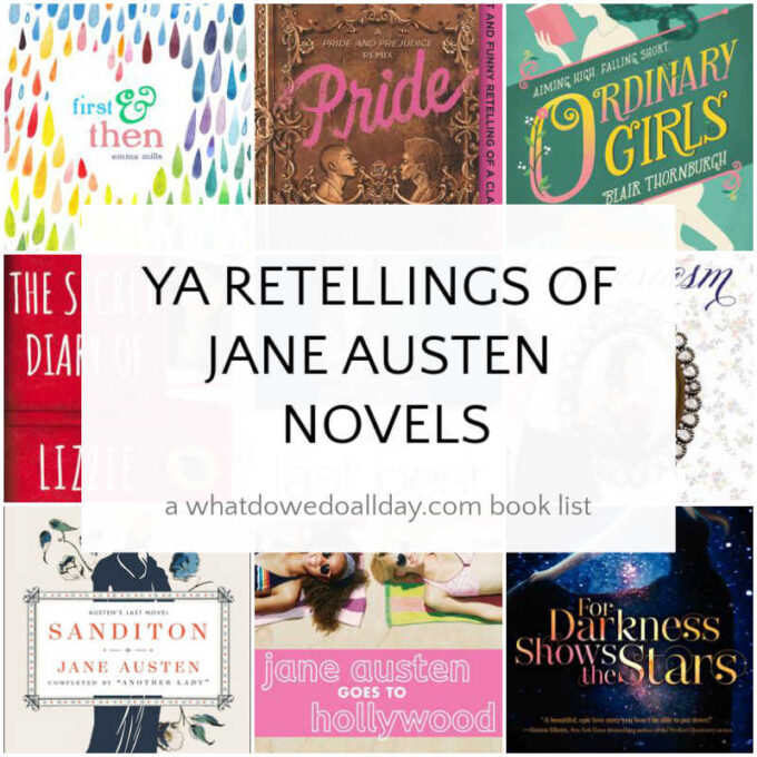 List of YA adaptations of Jane Austen Novels