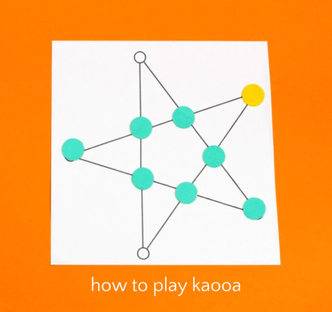 Kaooa game board and tokens