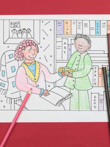 Pajama Day Coloring Page