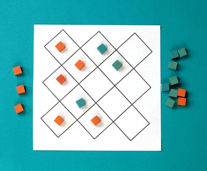 Game board for Queah strategy game for kids