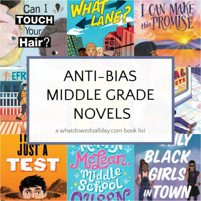 Anti-bias middle grade books ages 9 and up