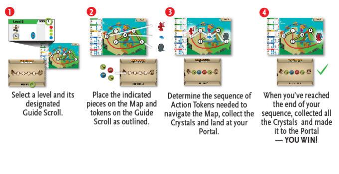 Instruction diagram for  code master game