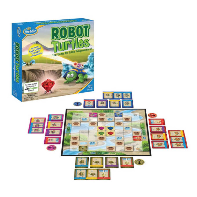 RObot Turtles card game with board and cards